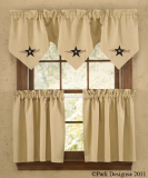 Park Designs Star Vine Lined Triple Point Valance