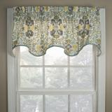 Ellis Curtain Folk Damask Wave Valance - 3 Colors