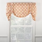 Ellis Curtain Kent Crossing Lined Tie Up Valance - 3 Colors